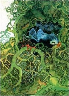 """Yes """"Fragile"""" 1972 by Roger Dean Jean Giraud, Science Fiction, Moebius Art, Rock And Roll History, Roger Dean, Rock Album Covers, Fantasy Concept Art, Beautiful Fantasy Art, Comic"""