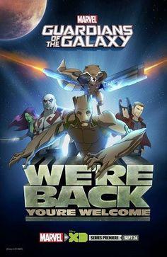 Primer tráiler y cartel de la serie animada de Guardianes de la Galaxia http://blogueabanana.com/ar-t/serie-guardianes-de-la-galaxia.html