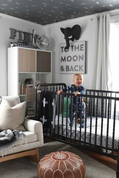Nursery- Thoughts a year later- Furniture Painting Tips Nursery Modern, Nursery Neutral, Painting A Crib, Painting Tips, Nursery Room, Nursery Decor, Nursery Ideas, Baby Boy Nursery Themes, Boy Nurseries