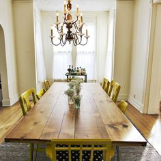 DIY Dining Room Table | MAKE | Inspiration: DIY Dining Room Table
