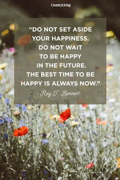"""Do not set aside your happiness. Do not wait to be happy in the future. The best time to be happy is always now."" #quotes #inspirationalquotes #wordsofwisdom"