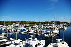 Birds Eye view of Saquatucket Harbor, Harwichport, Cape Cod.