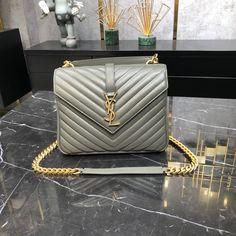 Saint Laurent Bag, Chain Shoulder Bag, Louis Vuitton Twist, Ysl, Saints, College, Gray, Medium, Bags