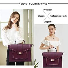 17 Inch Briefcase for Women, Fashionable Laptop Messenger Bag with Computer Bags for College Business Women Work School Business Travel,burgundy-17Inch Laptop Messenger Bags, Laptop Briefcase, Business Travel, Business Women, Leather Handbags, Women's Handbags, Laptop Bag For Women, College Bags, Computer Bags