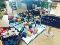 10 Playful Spatial Reasoning Provocations – inspired by play Kindergarten Inquiry, Kindergarten Centers, Preschool Curriculum, Kindergarten Names, Symmetry Activities, Pre K Activities, Montessori Activities, Math For Kids, Fun Math