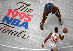 Shaq in Orlando vs Hakim Olajuwon in Houston for NBA championship in 1995