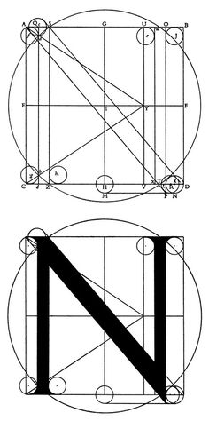 Construction of a capital N.