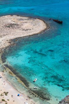 Shipwreck in Balos beach, Gramvousa ~ Crete , Greece (photo by Maria Boutzoukas )