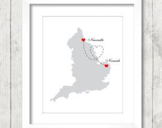newcastle map – Etsy UK