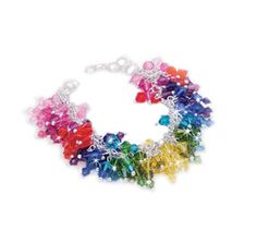 ...not usually a big 'bling' fan, but I do love a good color wheel :)  This would be a great 'art event' bracelet!