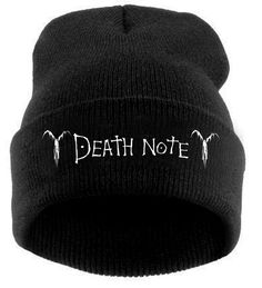 DEATH NOTE BEANIE sold by lolala. Shop more products from lolala on Storenvy, the home of independent small businesses all over the world. Emo Outfits, Cosplay Outfits, Anime Outfits, Grunge Outfits, Cute Casual Outfits, Pretty Outfits, Mode Monochrome, Swag Style, My Style