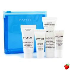 Payot Hydro Kit: Creme Hydratation 24 15ml + Hydratation 24 Corps 25ml + Hand Cream 10ml + Lip Balm 5ml 4pcs+1bag #Payot #Skincare #Valentine #FREEShipping #StrawberryNET #Giveaway #GiftSet