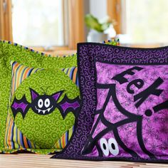 This pair of appliqué pillows is a treat to complete. Fusible appliqué is the trick!