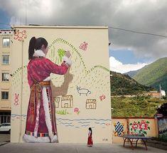 Nuovo pezzo realizzato da Seth Globepainter a Changping, Cina.