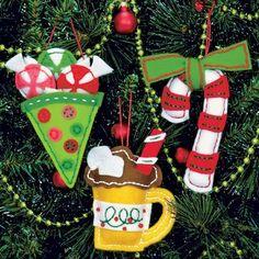 Dimensions Whimsical Birds Christmas Ornaments - Felt Applique Kit - 123Stitch.com