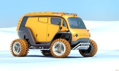 UAZ 2033 (euh...wot? Good for syberians and greenlanders and alaskans I'd suspect? Cute little bug...)