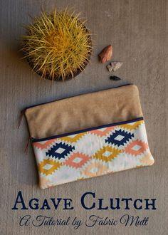 Fabric Mutt: Agave Clutch Tutorial