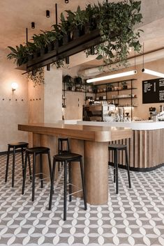 restaurant interieur Gallery of Daily Coffeehouse / Sivakamp; Coffee Shop Interior Design, Salon Interior Design, Beauty Salon Interior, Coffee Shop Design, Bar Interior, Restaurant Interior Design, Cafe Design, Coffee Cafe Interior, Coffee Shop Interiors