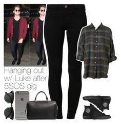 """""""Hanging out with Luke after 5SOS gig"""" by marianaasilva-237 ❤ liked on Polyvore featuring River Island, Converse, Ray-Ban, MANGO, lukehemmings and 5secondsofsummer"""