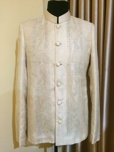 Hand Embroidered Pinya Barong Suit