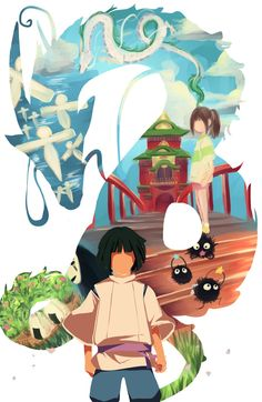 Spirited Away - Haku & Chihiro Hayao Miyazaki, Totoro, Studio Ghibli Art, Studio Ghibli Movies, Anime Manga, Anime Art, Chihiro Y Haku, Girls Anime, Howls Moving Castle