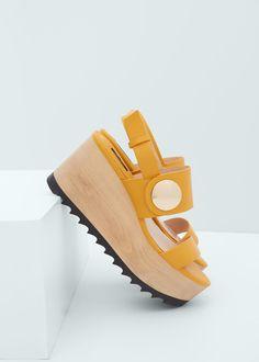 Sandalia tiras plataforma | MANGO