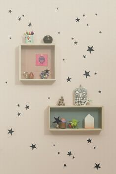 Wall Stickers - Mini Stars Black #ferm