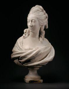 Jean Antoine Houdon, Bust of Anne-Marie-Louise Thomas de Domangeville de Serilly, Comtesse de Pange, 1780. Marble.