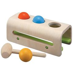 Plan Toys - Pretty much Jackson's favorite toy. Loves banging the balls through or taking the balls and putting them in cups and dumping them. Then repeating it. :)