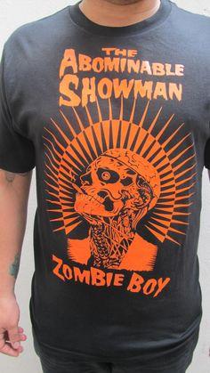 Zombie Boy T-shirt -serigraphy by http://www.facebook.com/BazarAlkalino