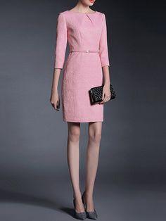 GYALWANA Jacquard Vintage Midi Dress