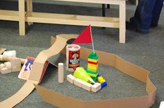 Kid-created mini golf course in the library. From COME INTO DELIGHT: Homeschool Hole In One.
