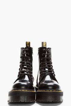 Dr. Martens Black Leather Quad Retro 8 eye Jadon Boot