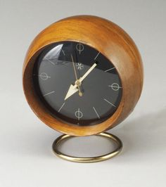 Mid Century Retro Vintage Alarm Mantle Clock George Nelson | Repinned By  360 Modern Furniture