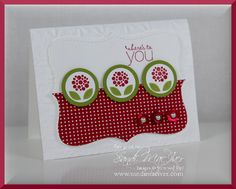Bright Blossoms Top Note Card by SandiMac - Cards and Paper Crafts at Splitcoaststampers