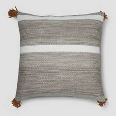Urban Habitat Brooklyn Cotton Jacquard Pom Oblong Throw Pillow with 100/% Polyester Filling for Bed Couch or Sofa 14X20 Ivory