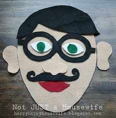 felt faces, fun to play with, make the whole family.