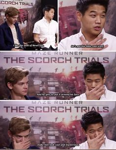 and Thomas imitates him omg i swear, they're five