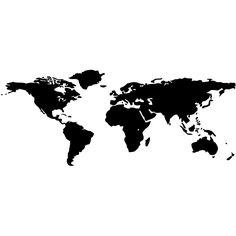 World Map Vinyl Wall Decal | Overstock.com Shopping - Big Discounts on Wall Stickers