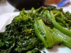 I make this Broccoli Rabe recipe all the time because it's so easy!