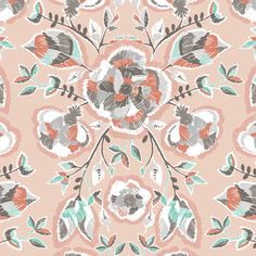 Hawthorne Threads - Coyote - Stitch Floral in Shell