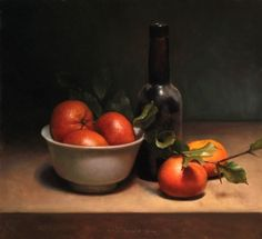 Clementine Still Life, painting by artist Jos van Riswick