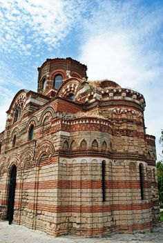 Christ Pantocrator Church constructed in the 13th–14th century in Nessebar (Nesebar), Bulgaria - ancient town and one of the major seaside resorts on the Bulgarian Black Sea Coast