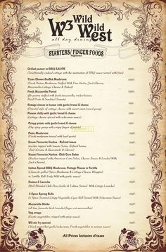 wild west saloon menu - Поиск в Google Grilled Paneer, Cheese Stuffed Mushrooms, Fresh Mozzarella, Wild West, Grilling Recipes, Finger Foods, Menu, Texture, Google