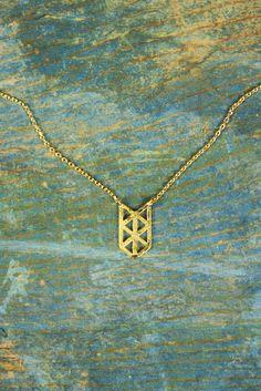 Open Work Chevron Necklace
