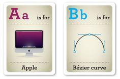 abbecedario per nerd, o meglio per nerd che vogliono istruire i figli in età prescolastica.