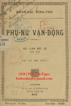 Phụ Nữ Vận Động (NXB Tiếng Dân 1928) - Dã Lan, 56 Trang | Sách Việt Nam Personalized Items