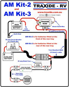 Dual battery wiring diagram | Camp Trailer | Pinterest | Camp trailers