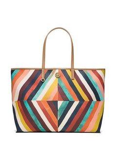 470a797562ea Tory Burch Kerrington Graphic Diamond Printed Square Tote Tote Handbags