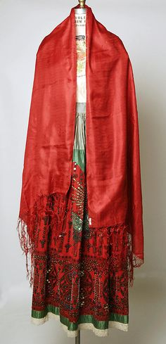 Ensemble Date: 20th century Culture: Mexican Medium: cotton, silk